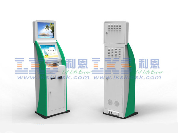 High Brightness Android Stand Card Reader Kiosk For Queue