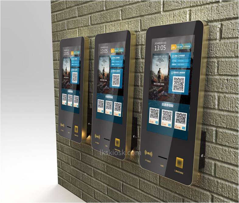 Indoor Self Service Kiosk 32 Inch Touch Screen For Banks / Hotel / Restaurant