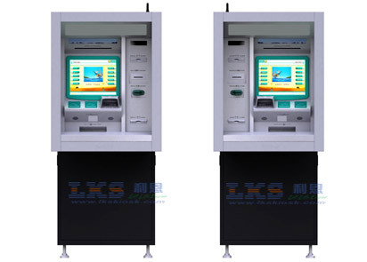 17'' Touch Monitor ATM Money Machine Customized With Cash Dispenser